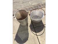 2 metal buckets. Retro vintage (aluminium)