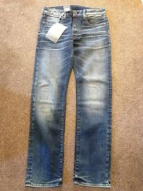 brand new with tags mens straight jeans G-STARS 32W 34L