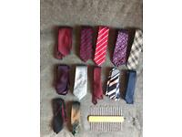Set of 12 Ties + Tie Rack