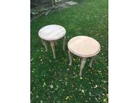 2 x shabby chic tables