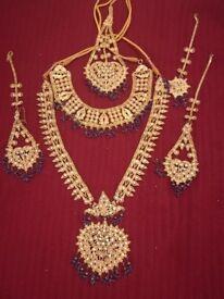 Gold Plated Bridal Wedding Jewelry Set