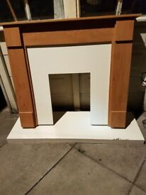 Fire surround in oak