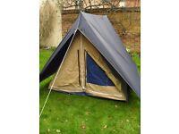 Heavy duty ridge pole tent