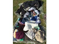 Clothes - 3 bin liners of clothes. Coats, jumpers, t shirts etc. Ideal car boot sale. £15.