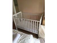 Cot with Mattress. Excellent Condition
