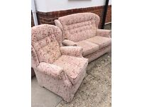 FREE 2 seater settee & Armchair