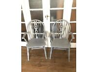 Pair vintage Armchairs free Delivery Ldn🇬🇧Shabby chic