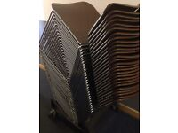 *********** Retro Max Stacker Steelcase, Heavy Duty Stacking Chairs PLUS Trolley *****************