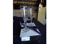 Crystal Sharon Goblets (Darlington) Wedding Gifts/House warming