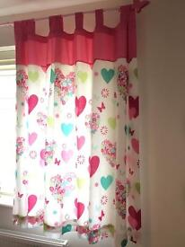 Pair of curtains for girl's room
