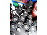 Hampton rubber dumbbells 7.5kg to 22.5kg
