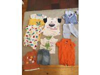 Bundle of boy's baby clothes