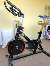 Charles Bentley exercise spin bike with 13kg flywheel.
