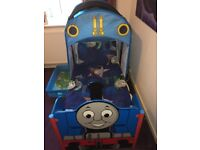 Thomas the tank engine bed with removable hood, inc mattress , quilt cover,pillows and curtains