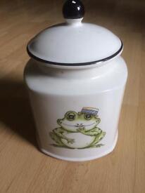 Frog storage jar