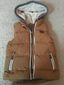 Next fleece lined hooded gilet, aged 5-6 years