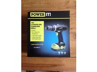 18v Lithium ion cordless drill (new)
