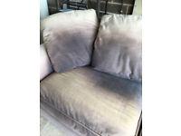 Large sofa bed, denim blue