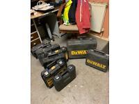 Power Tools Dewalt Drill Empty Cases X 7