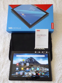 Lenovo Tab 4 Plus Tablet Computer (model: TB-X704F) + extras - Immaculate