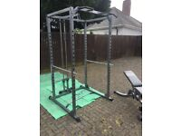 Body max cf375 power rack with lat/low pulley and adjustable bench