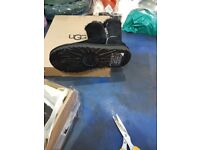 black ugg boots with zip design size 4.5 new in box