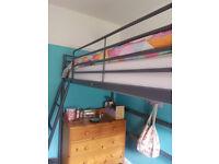 Ikea loft single metal loft bed