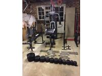 Weight set metal cast iron barbell dumbell 157.50kg