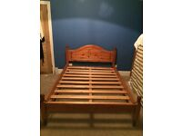 Double Bed Pine Wooden Frame (4ft 6 in)