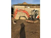 Digger hire, Garden/site clearance, all aspects of fencing and landscaping work undertaken.
