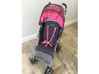Maclaren Techno XT Grey Pink Stroller Buggy Pushchair Good Condition with extras