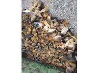 Seasoned Firewood Logs 100% OAK Barkless 1x Builders bag