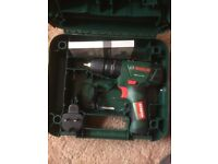 New Bosch 12v cordless li-ion combi drill, integrated battery, charger, case & bit set - £45 ovno