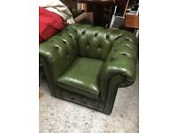 Chesterfield club chairs x3