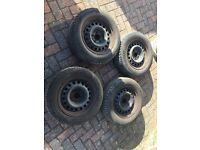 Mercedes Steel Wheels 4x with good tyres