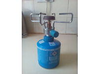 camping stove with gas cannister