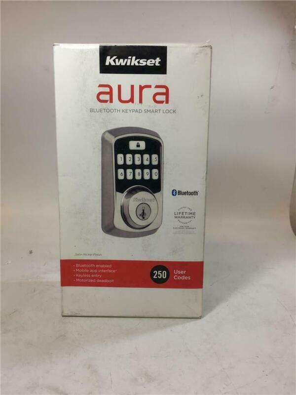 Kwikset Aura Satin Nickel Single Cylinder Electronic Bluetooth Keypad Smart Lock