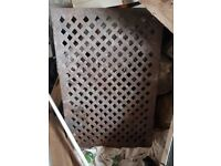 Reclaimed cast iron drain grating 900 x600 x30 mm