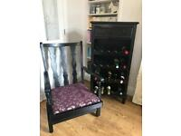 Wooden wine rack