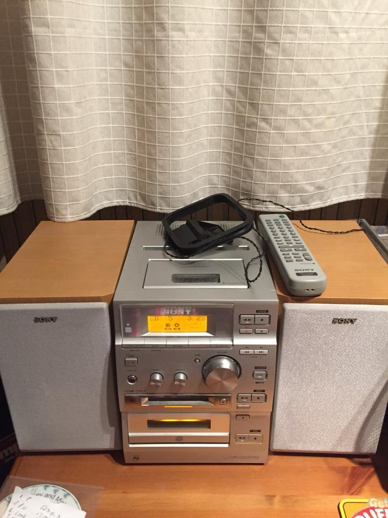 Sony stereo Mini disc cd tape radio player