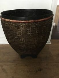 Large wicker Basket for Logs/Large Plant