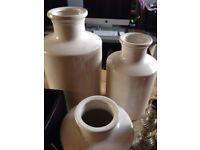Collection of decorative pots/vases/etc