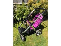 Oyster Max double buggy chassis and seat unit