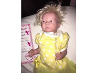 Reborn doll with hair