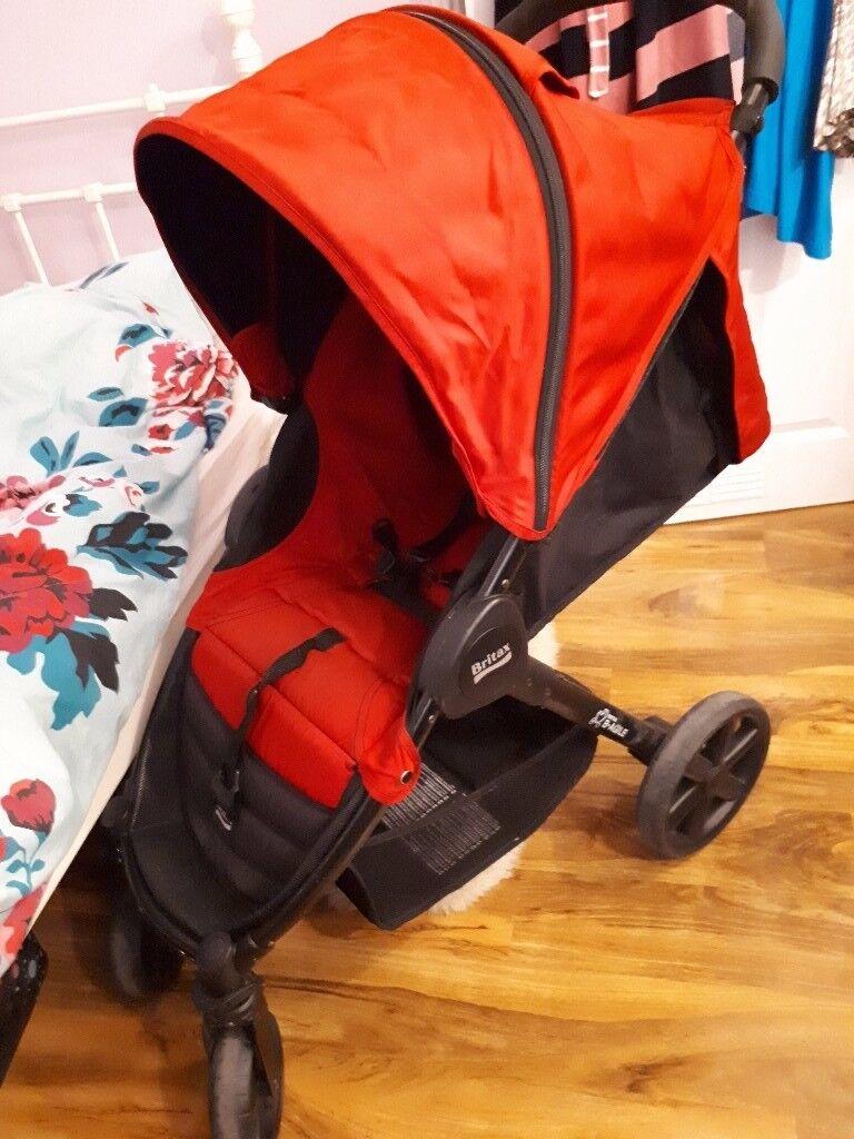 BRITAX B-Agile Red Travel System Single Seat Stroller