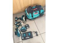 Makita LXT 18v 6 piece combo set. 2017 model with two 5ah batteries.