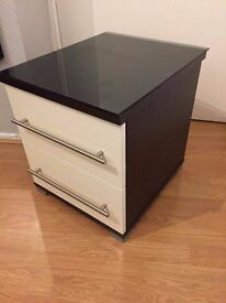 Hygena Atlas 2 Drawer Bedside Chest