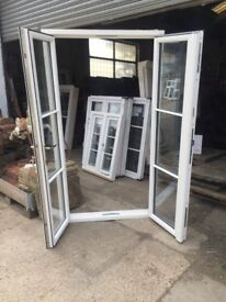 UPVC French doors ( wood grain effect) 206 cm h x 113 cm w)