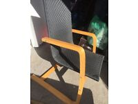 Black Wooden Frame Chair