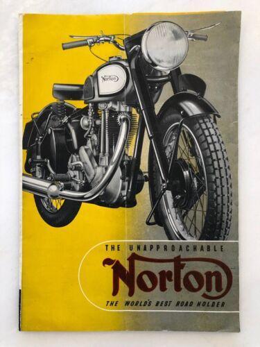 1949 NORTON MOTORCYCLE Vintage Advertising POSTER Sales Brochure BRITISH